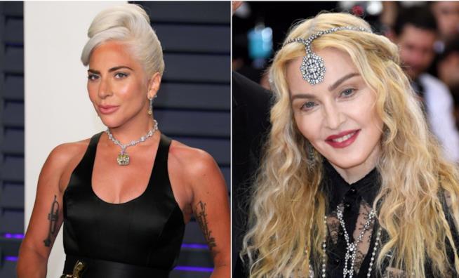 Collage tra Lady Gaga e Madonna