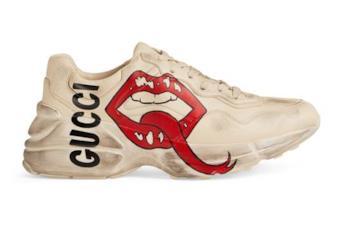 Gucci Rhyton sneakers con scritta e bocca