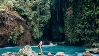 Lauren Bullen in uno scatto in a Bali
