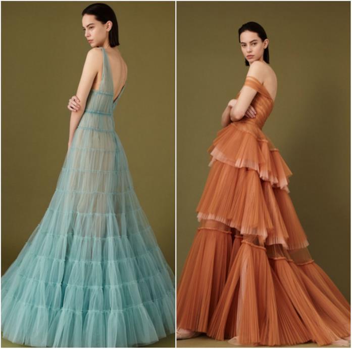 Due abiti di J. Mendel alla New York Fashion Week 2018