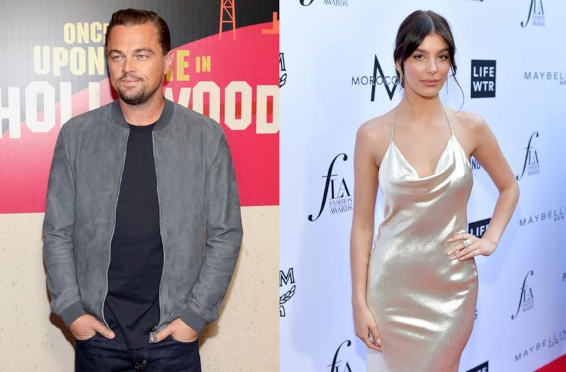 Gli attori Leonardo DiCaprio e Camila Morrone