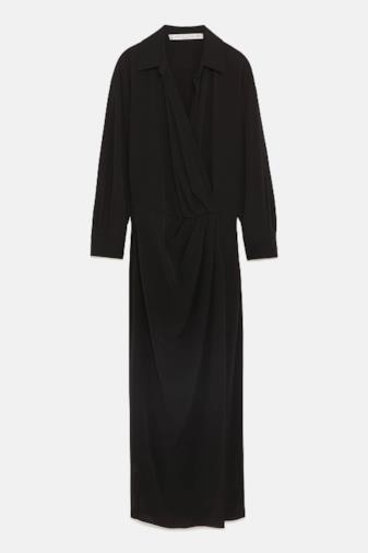 Vestito incrociato nero