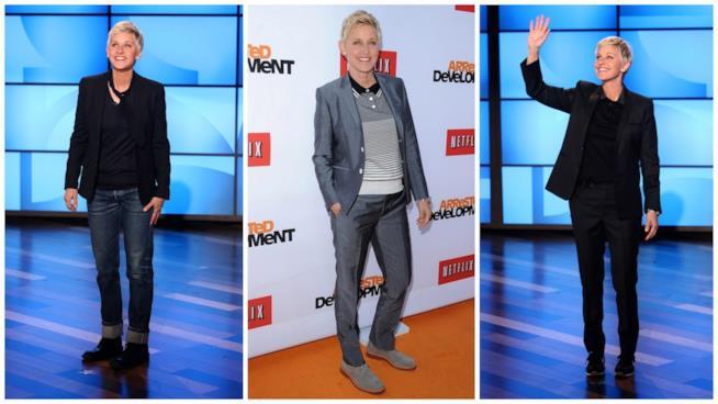 Il look uniforme di Ellen DeGeneres