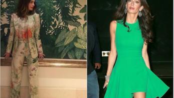 Anne Hathaway e Amal Clooney su Instagram
