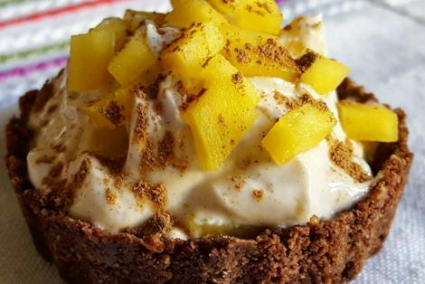 Crostatina con crema e frutta