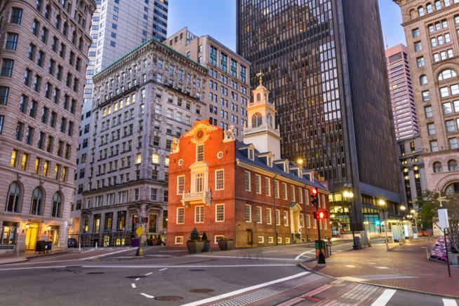 """L'edificio più """"vecchio"""" di Boston: l'Old State House"""