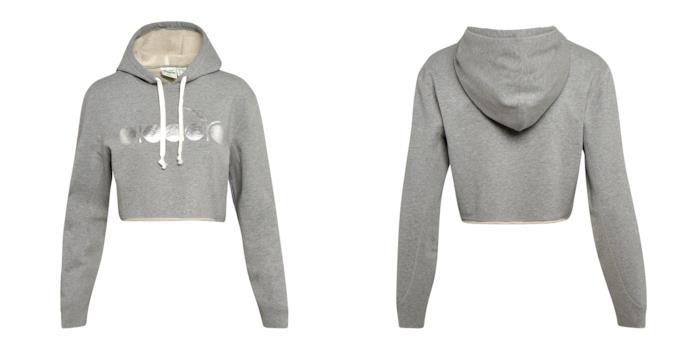 Diadora Sportswear L. HOODIE BL Felpa cropped con logo - Donna
