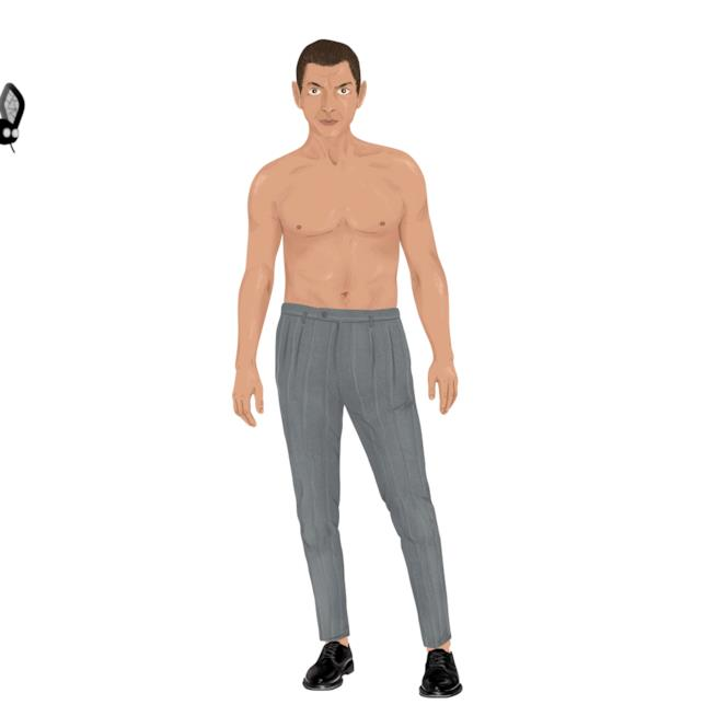 Una gif del dress-up magnet set di Jeff Goldblum