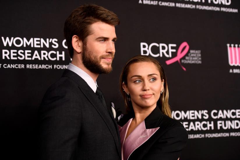 Liam Hemsworth e Miley Cyrus a un evento