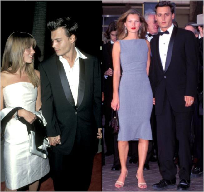 Kate Moss e Johnny Depp in due red carpet