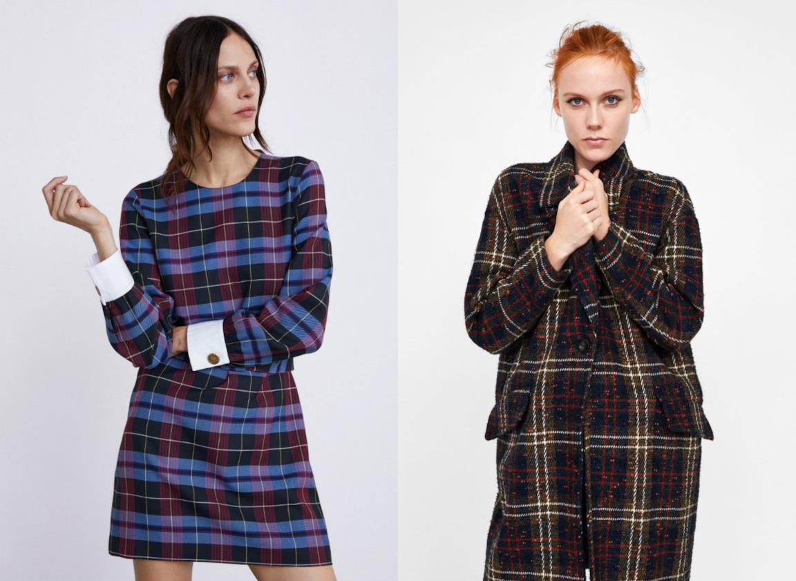 timeless design aab7f be041 Zara Donna: vestiti e accessori a quadretti per l'autunno ...
