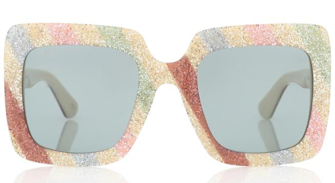 Occhiali da sole con i glitter tendenza autunno inverno 2018-19 Gucci 07656f8f5682