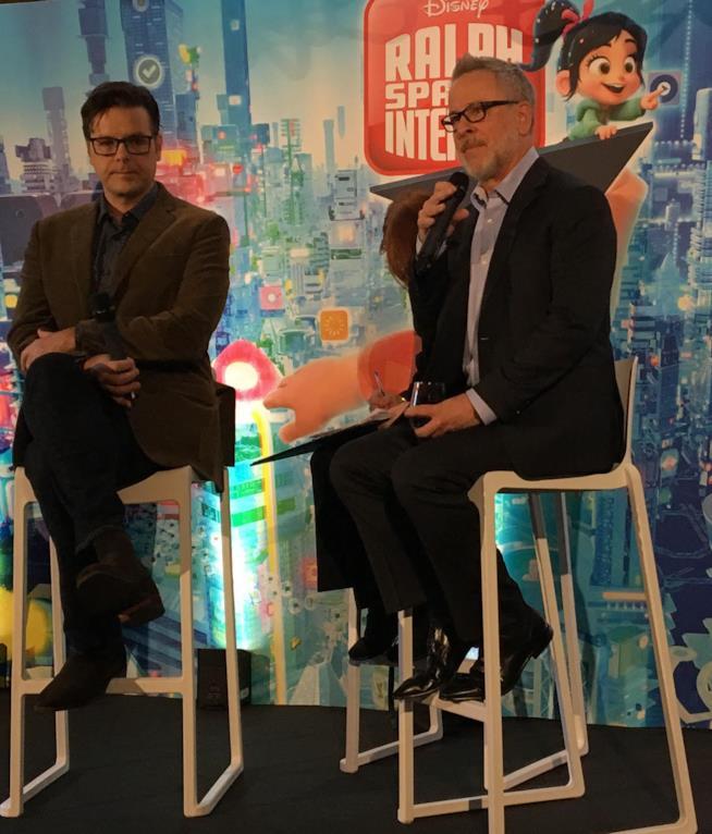 Rich Moore e Phil Johnston alla conferenza stampa di Ralph Spacca Internet