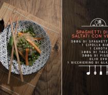Spaghetti di soia e verdure