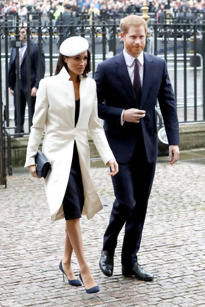 Meghan Markle e Harry durante il Commonwealth Day