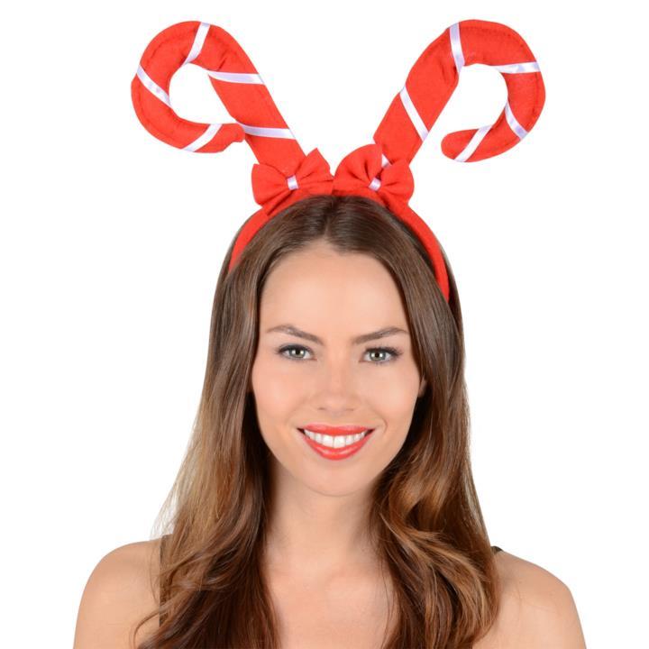 Cerchietto natalizio a forma di caramelle