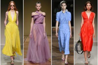 Abiti nei colori moda primavera-estate 2018