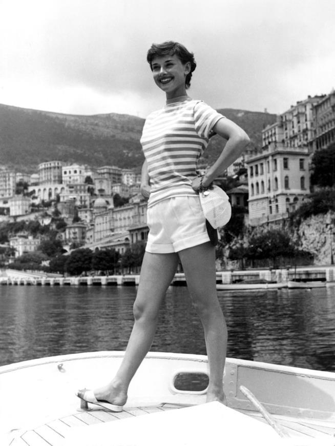 Look marinaro di Audrey Hepburn in Montecarlo