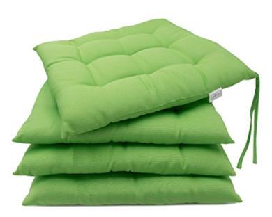 Set di 4 cuscini da sedia per giardino