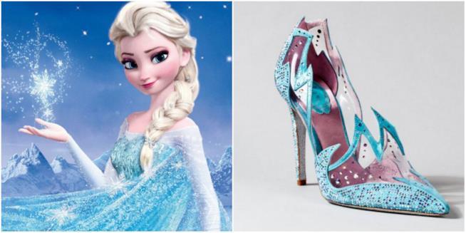 Un collage tra Frozen e le scarpe di René Caovilla