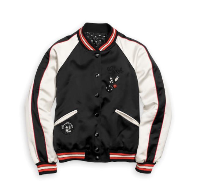Mickey Mouse Reversible Varsity Jacket for Women