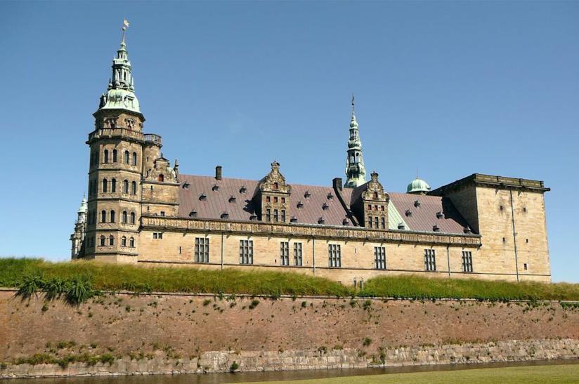 Veduta del Castello di Kronborg in Danimarca