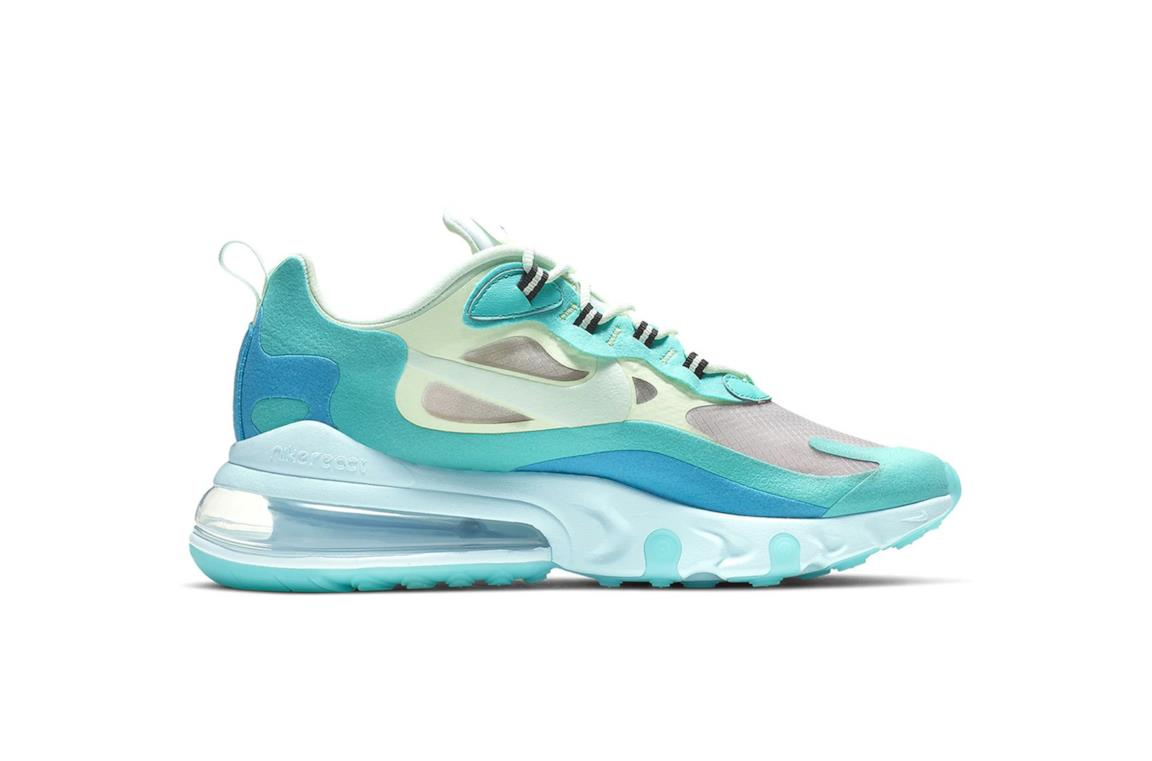 "Nike Air Max 270 React arriva in una tonalità ""Hyper Jade</p>                     </div>   <!--bof Product URL --> <!--eof Product URL --> <!--bof Quantity Discounts table --> <!--eof Quantity Discounts table --> </div>                        </dd> <dt class="