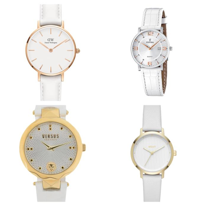 Con il cinturino bianco, gli orologi di tendenza per l'estate 2018
