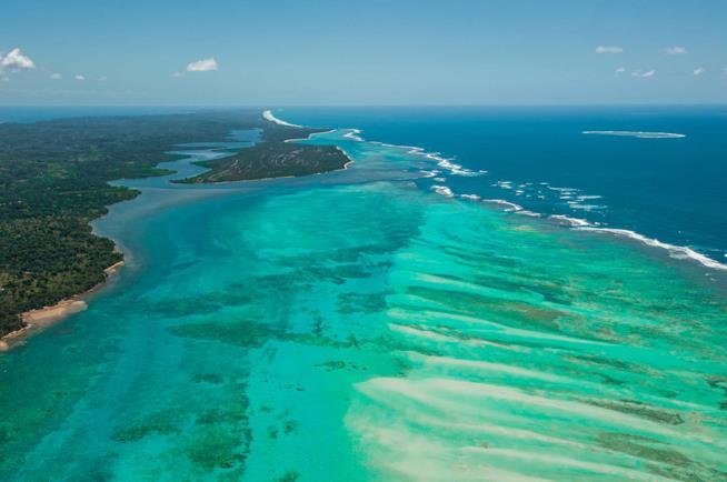 Veduta dell'Isola di Sainte Marie nel Madagascar orientale