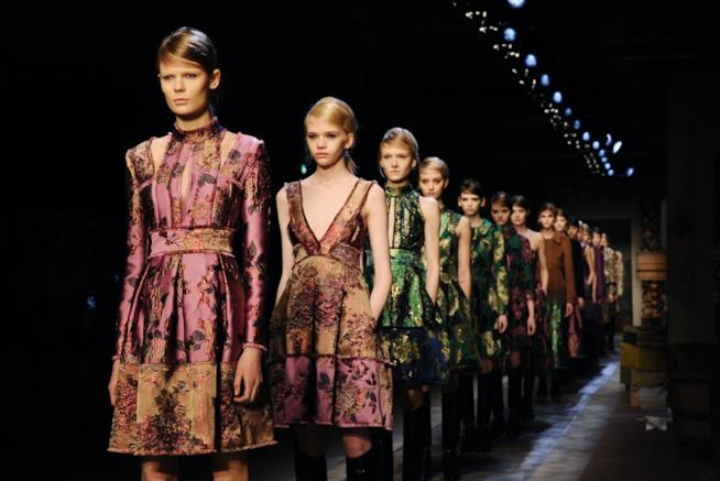 Una sfilata alla London Fashion Week