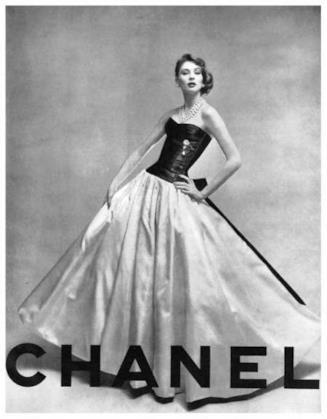 Un manifesto di Chanel anni '50