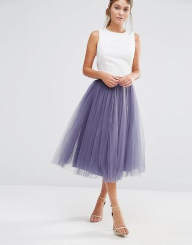 Gonna in tulle viola