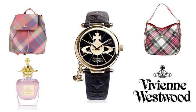 Vivienne Westwood, orologio, profumo e borse
