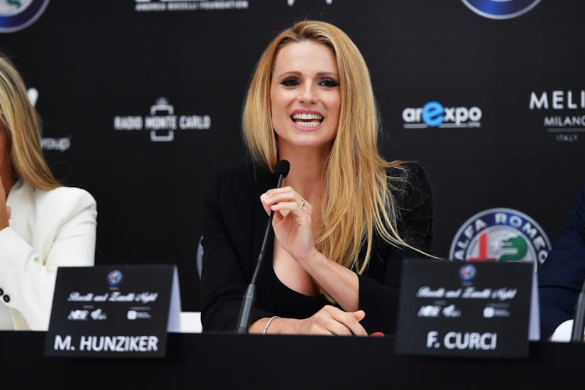 Michelle Hunziker in conferenza stampa