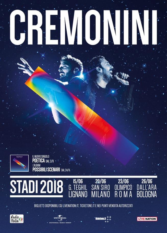 Stadi 2018 Cesare Cremonini