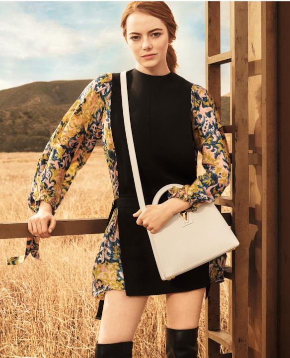 Emma Stone indossa le creazioni Louis Vuitton