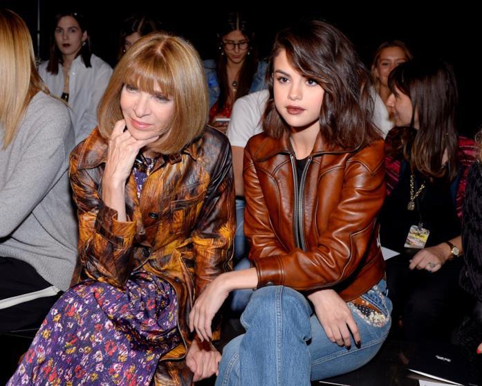 Anna Wintour e Selena Gomez, Front Row