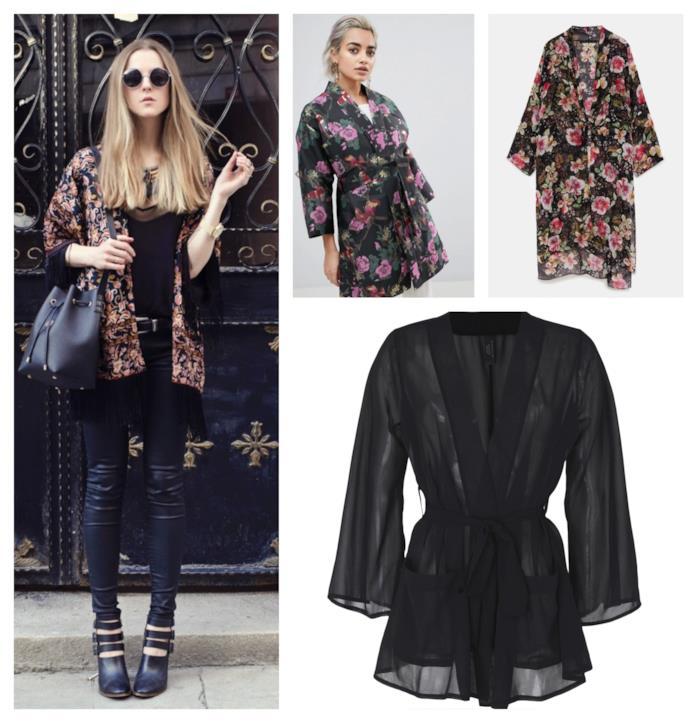 Rock e dai toni scuri, il kimono di moda per la P/E 2018