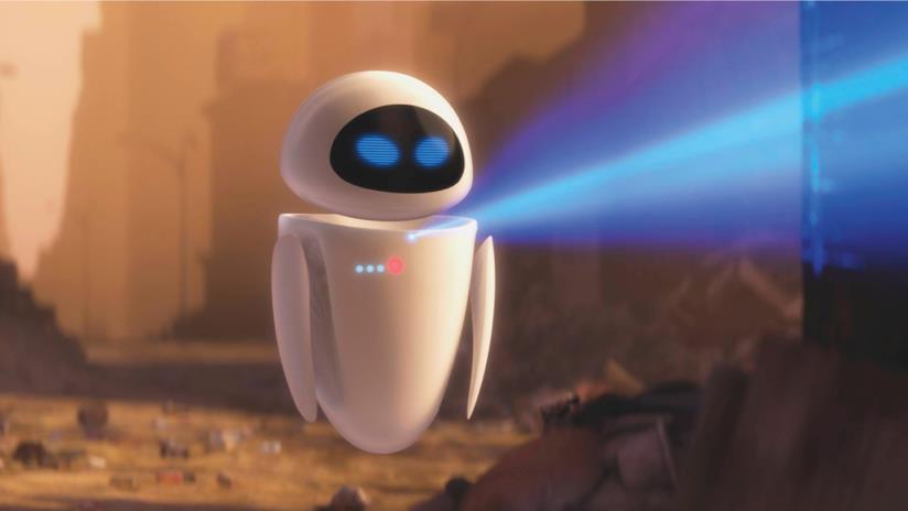La robot femmina del cartone animato Wall-E di nome Eve