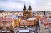Centro storico di Praga in inverno