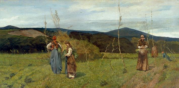 Giovanni Fattori (1825 - 1908) Le macchiaiole, 1866 circa Olio su tela, cm 90 x 180 Courtesy Società di Belle Arti, Viareggio