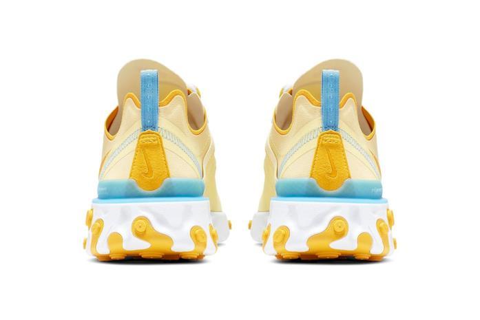 Nike React Element 55 giallo pastello