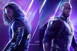 Charachter poster di  Winter Soldier e Falcon per Infinity War