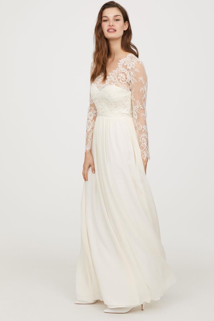 L'abito bianco di H&M ispirato a quello di Kate Middleton