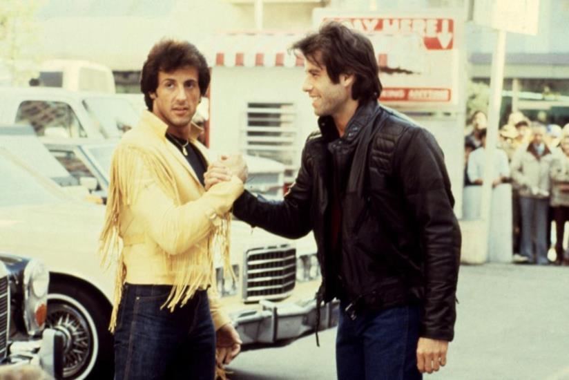 Stallone e Travolta, rispettivamente regista e protagonista di Staying alive
