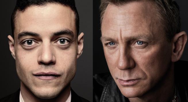 Gli attori Rami Malek e Daniel Craig