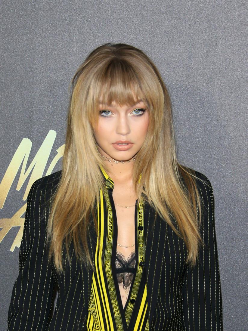 Gigi Hadid hairstyle con frangia