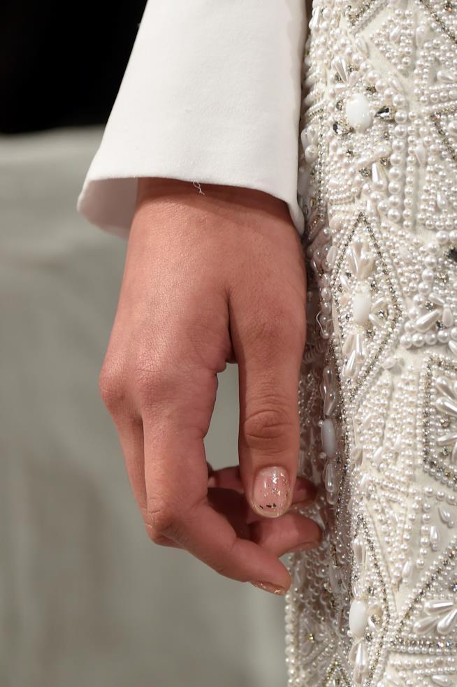 Nail art french con glitter