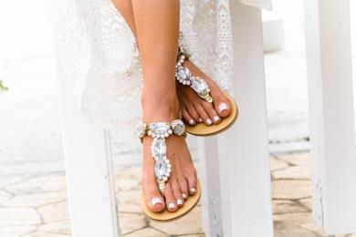 Sandali in pelle gioiello