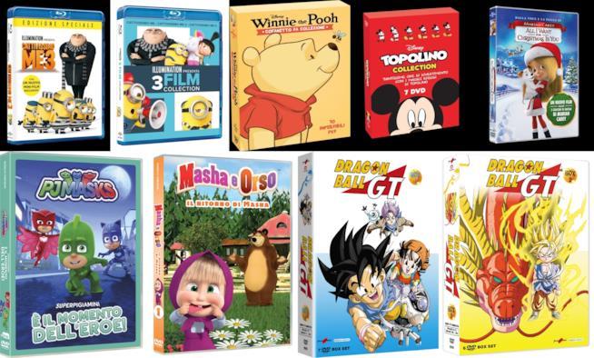 Cofanetti di film e serie TV animate per bambini